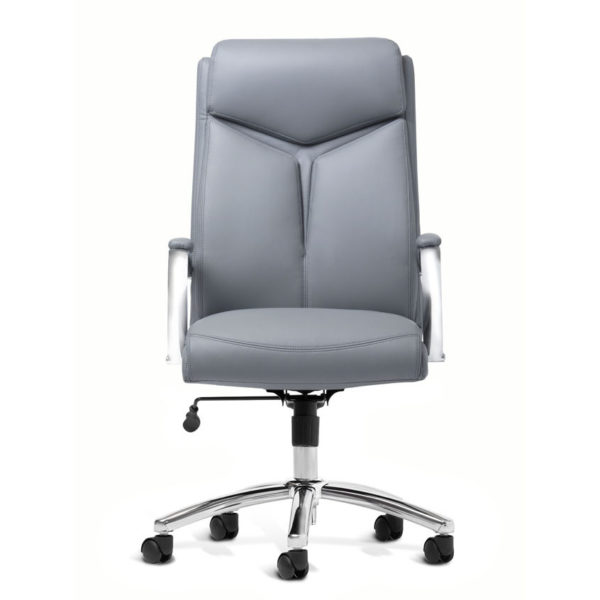 OF-1111GY - Gray Leather Office Factor Chair