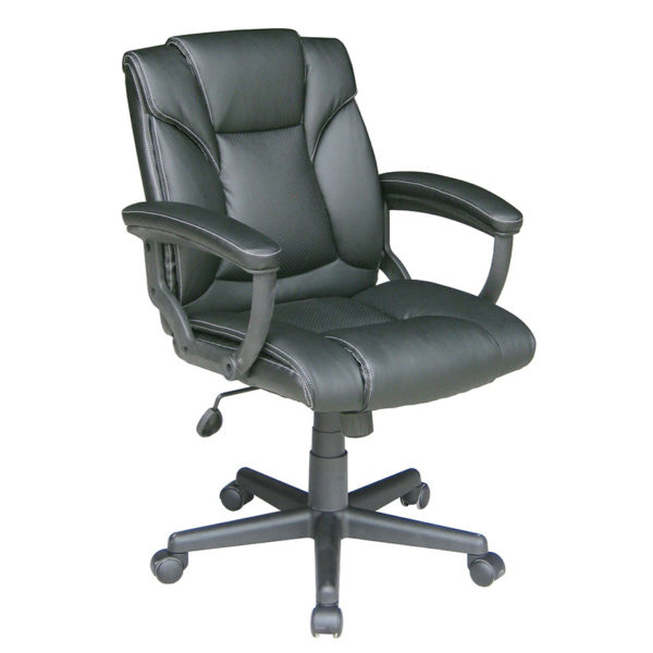 OF-969BK Leather Office Factor Chair