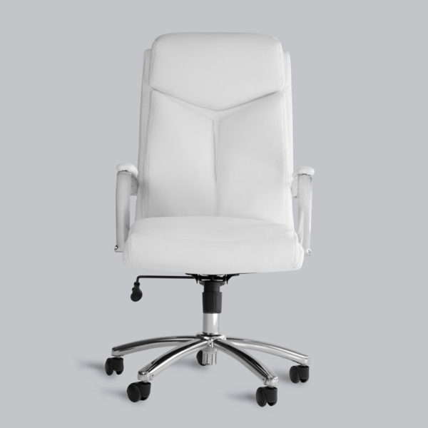 OF-1111WH White Leather Office Factor Chair