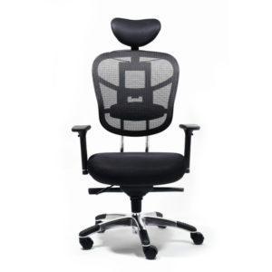 OF-5800BK Black Office Factor Chair Movable headrest