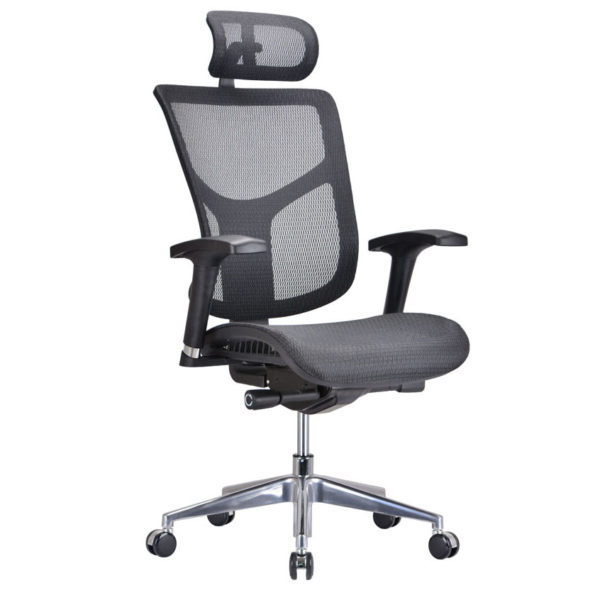 OF-9001BK Black Meshed Office Factor Chair