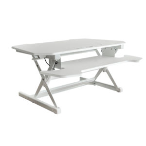 OF-TD30WH Office Factor White Adjustable Height Desk